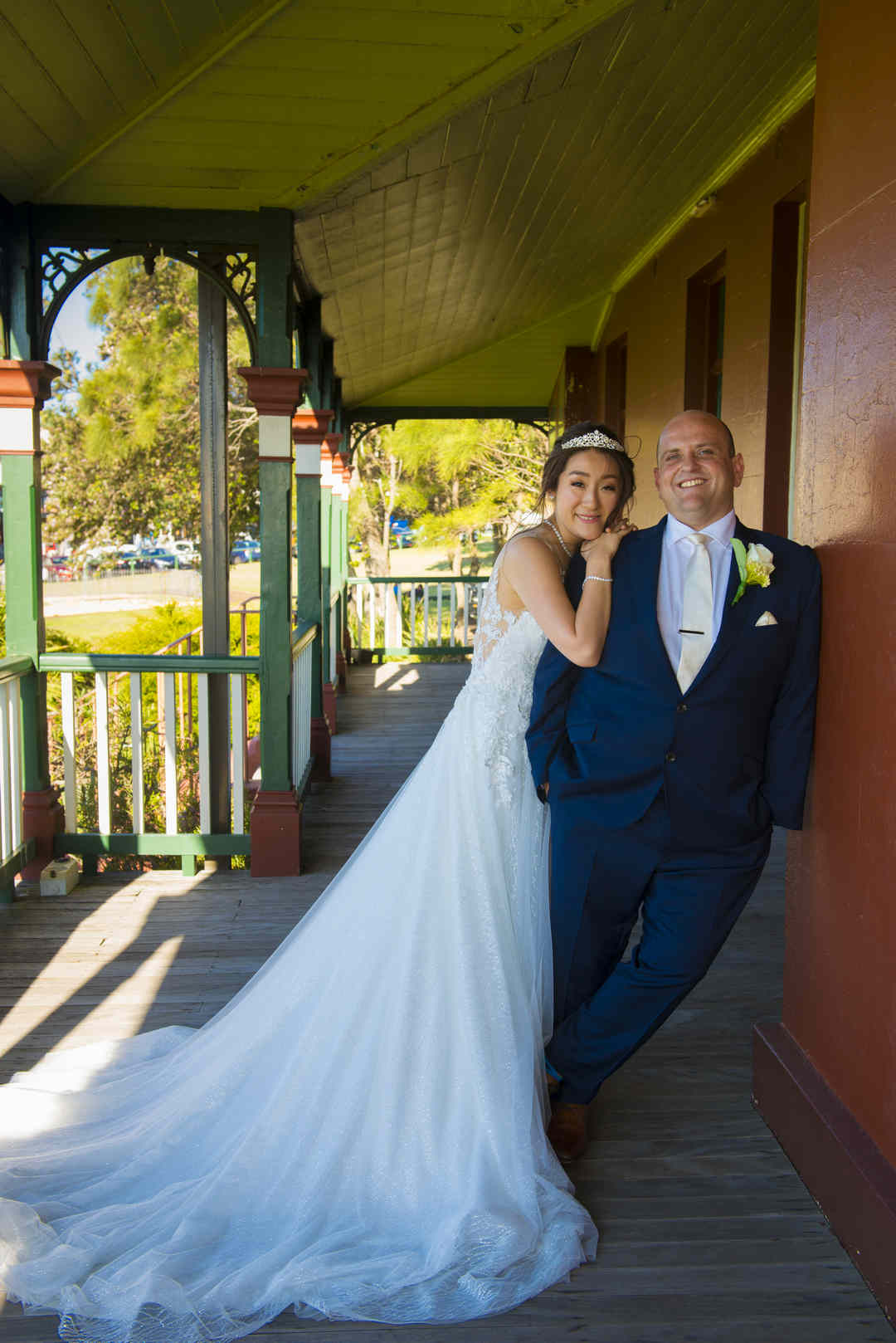 photo of bride and groom