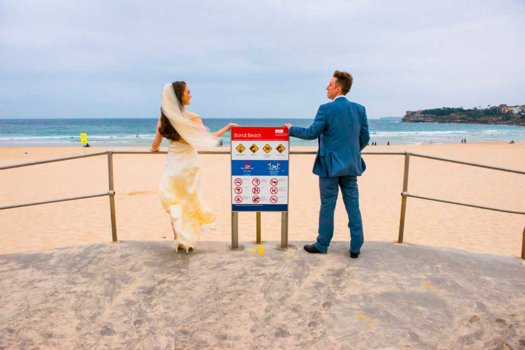 couple at Bondi beach