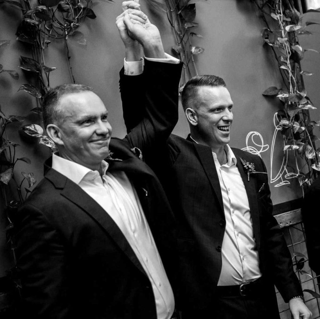 3 blue ducks gay  wedding