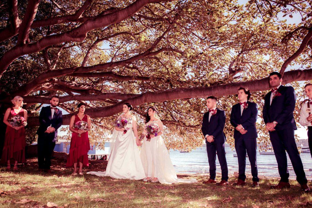 2 brides ceremony