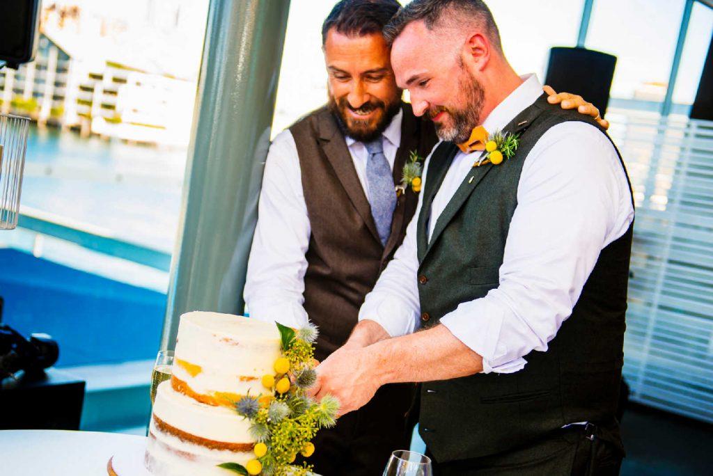poolside cafe wedding