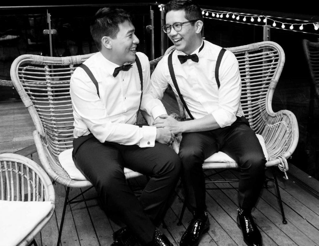 just married 2 grooms