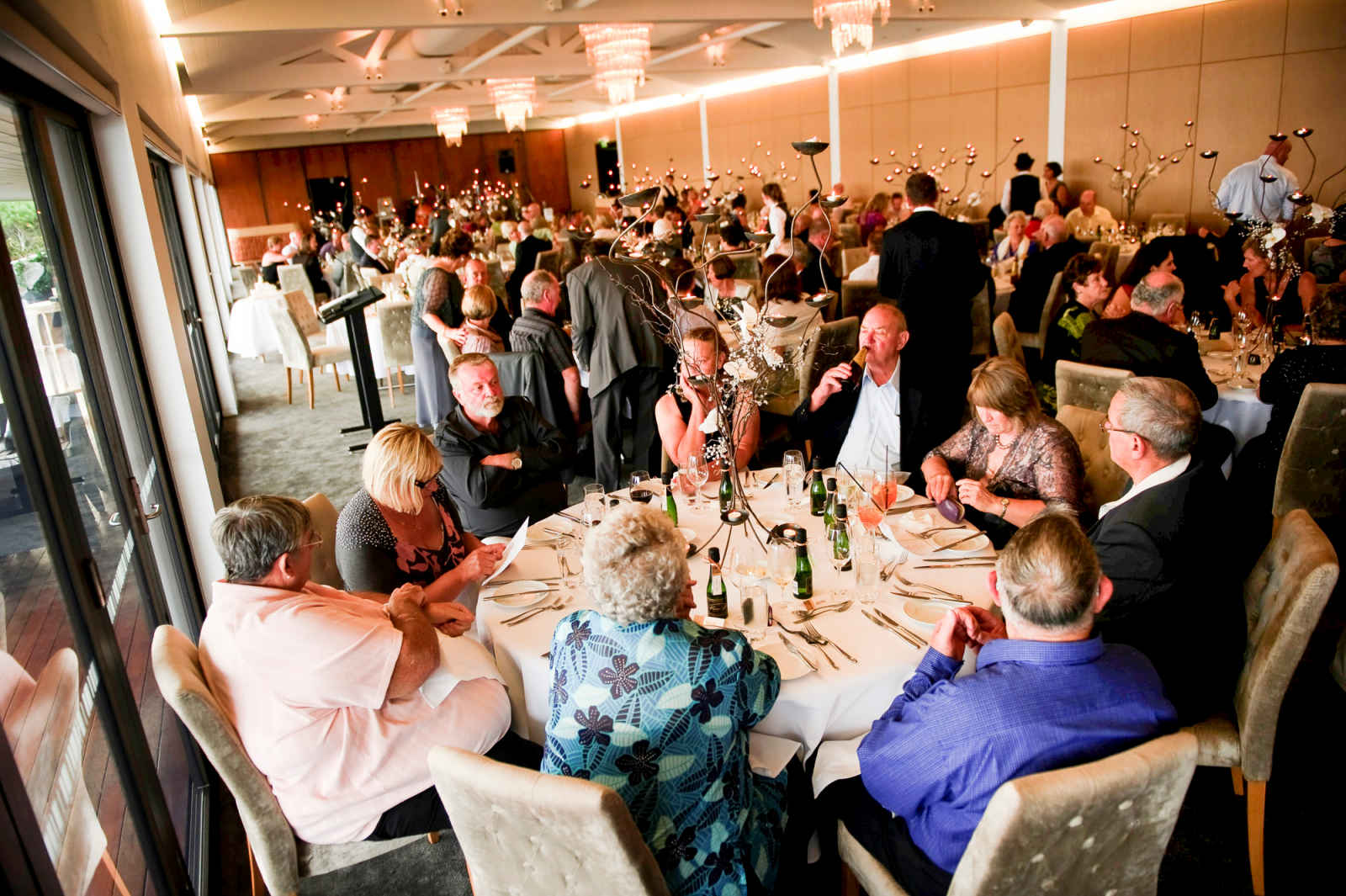 guests seated at sergeants mess